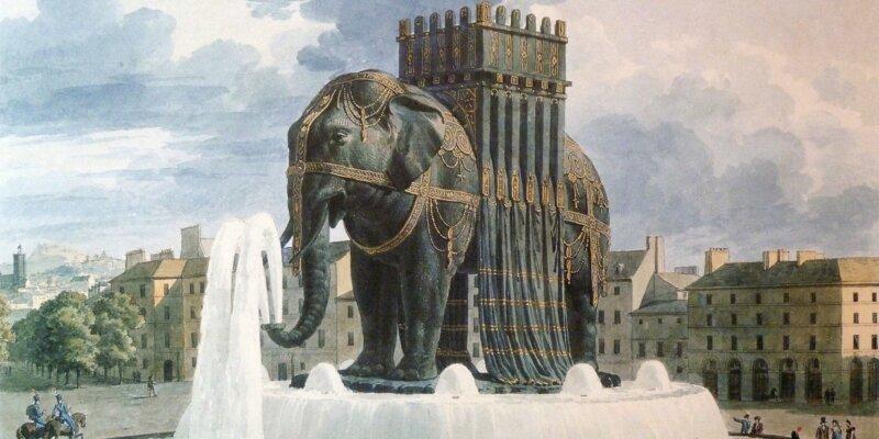 El Elefante de la Bastilla 🐘, el monumento que nunca se construyó 🇫🇷